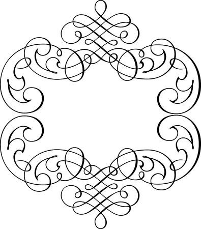 calligraphic design: Calligraphic Design Element and Page Decoration