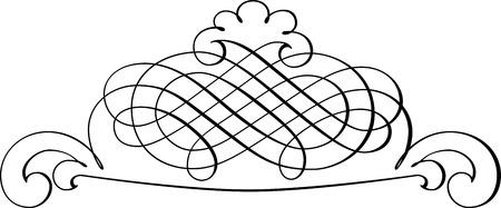 decoration design: Calligraphic Design Element and Page Decoration