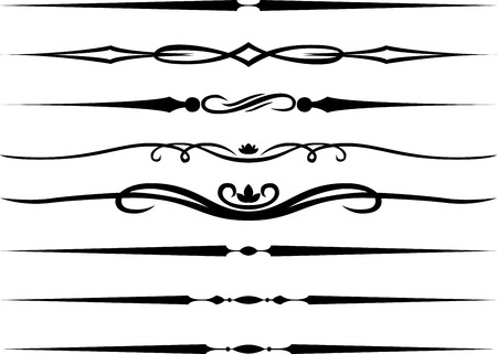 Calligraphic Page dividers and Decoration Vector