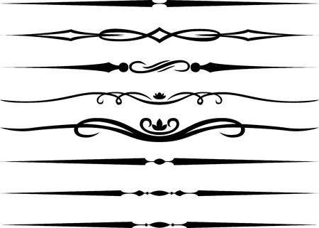 Kalligrafische pagina verdelers en Decoratie