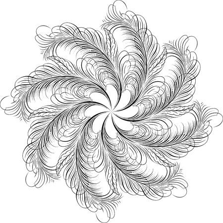 Calligraphic Swirl, Vector Design Element Stock Vector - 25050181