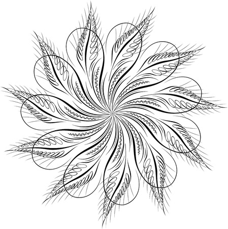 Calligraphic Swirl, Vector Design Element Stock Vector - 25050185