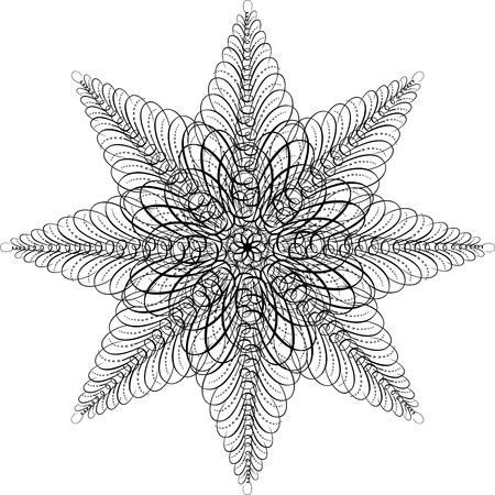 Calligraphic Star, Vector Design Element Stock Vector - 25050186
