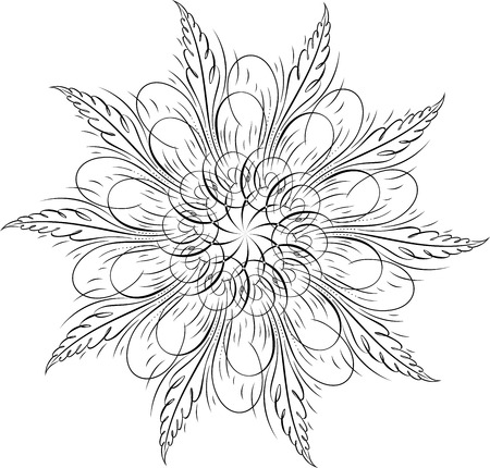 Calligraphic Swirl, Vector Design Element Vector