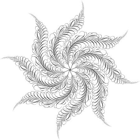 Calligraphic Swirl, Vector Design Element Stock Vector - 25050191