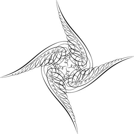 Calligraphic Swirl, Vector Design Element Stock Vector - 25050198