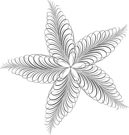 Calligraphic Star, Vector Design Element Stock Vector - 25050226
