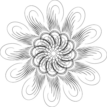 Calligraphic Swirl, Vector Design Element Vector