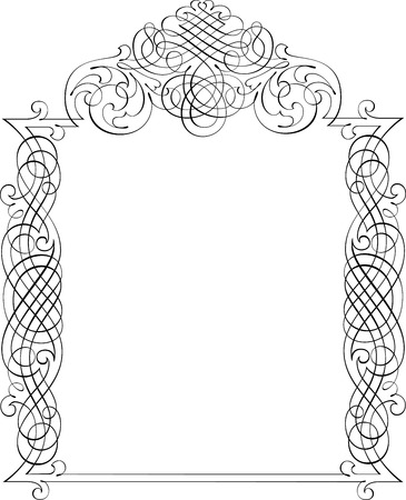 Calligraphic Vector Design Border Vector