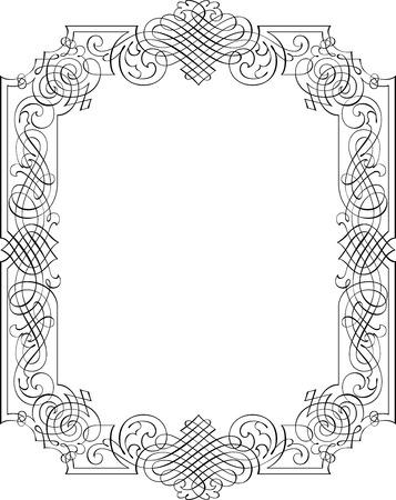 Calligraphic Vector Design Border Stock Vector - 25050335