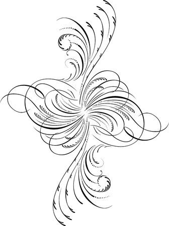 decoration design: Elemento de dise�o caligr�fico y decoraci�n de p�gina