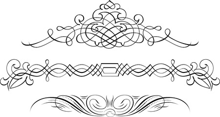 Set of Calligraphic Design Elements and Page Decoration Vector