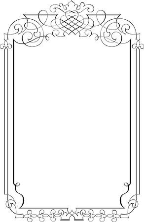 Calligraphic Vector Design Border