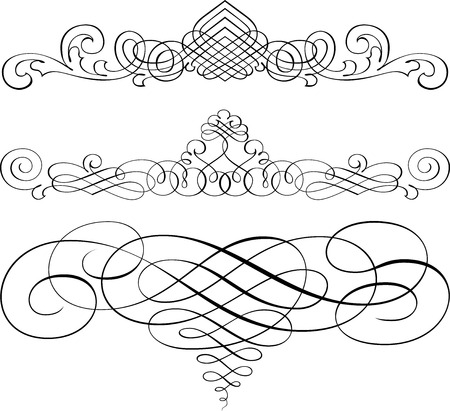 Set of Calligraphic Design Elements and Page Decoration Stock Vector - 25050390