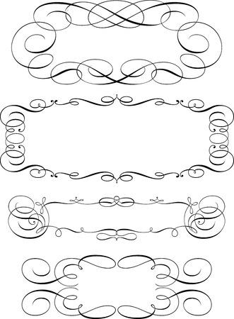 page decoration: Set van kalligrafische designelementen en pagina decoratie