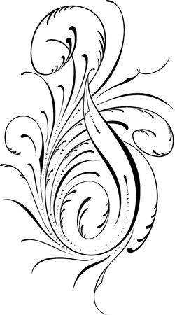 twirl: Elemento de dise�o caligr�fico y decoraci�n de p�gina