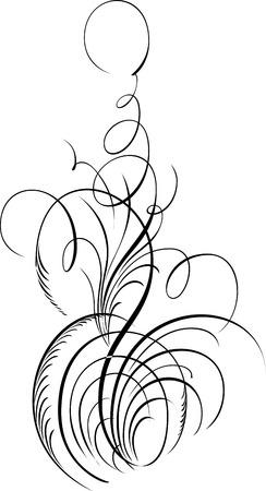 Elemento de diseño caligráfico y decoración de página Foto de archivo - 25050395