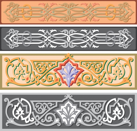 Set of oriental ribbons and page decoration