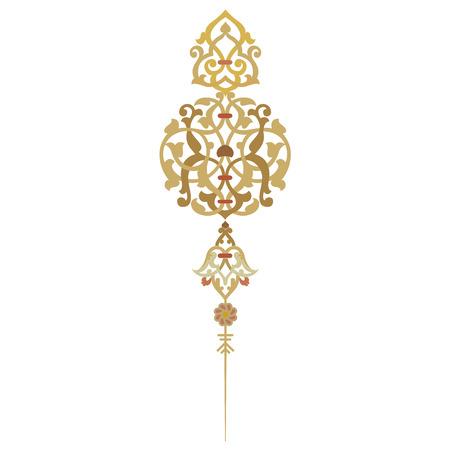 arabesco: Decoración oriental adornado y página Vectores