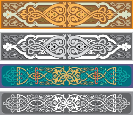 Set of oriental ribbons and page decoration Banco de Imagens - 25382643