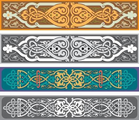 Set van oosterse linten en pagina decoratie