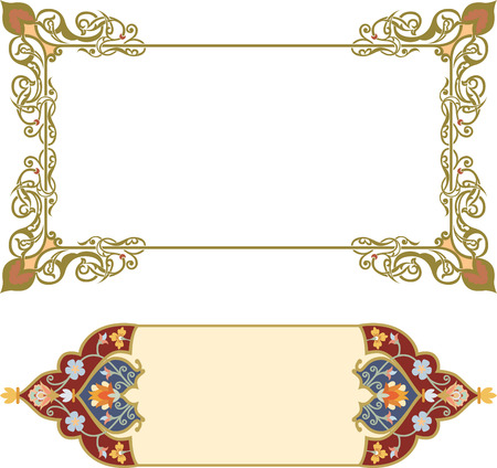 Set of oriental ornate and page decoration Banco de Imagens - 25382642