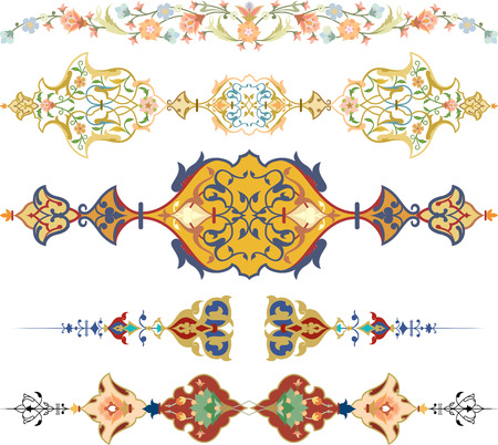 Set of oriental ornate and page decoration
