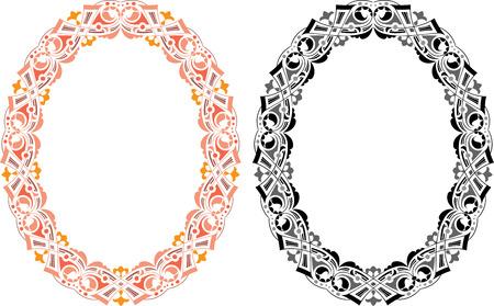 oval frame: Oriental oval frame  Illustration