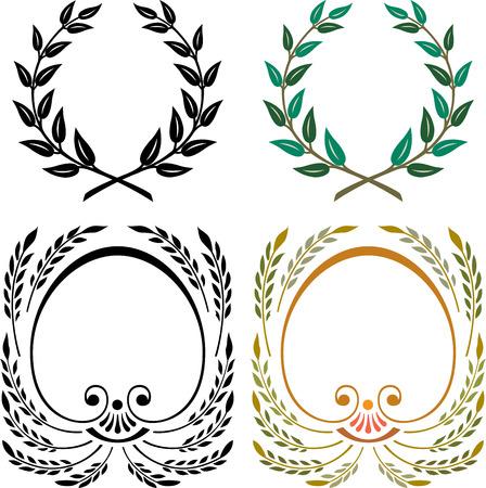 Set of badges design elements