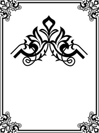 美しい装飾的な角を持つ境界線フレーム