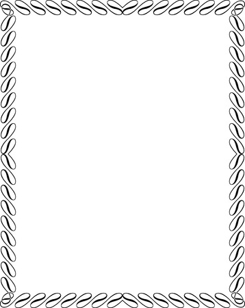 Frontière cadre calligraphique Banque d'images - 25383500