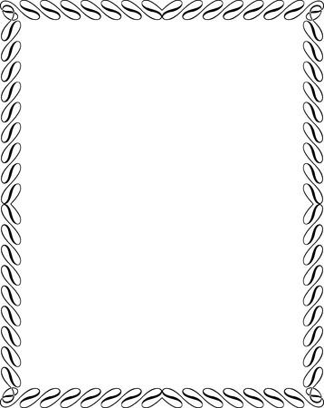 Marco de la frontera caligráfico Foto de archivo - 25383500