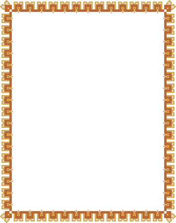 Ornamental border frame, in editable vector file, Color Vector