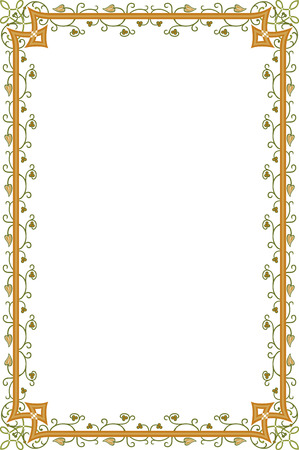Border frame with beautiful decorative corners