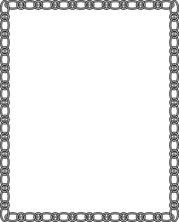 Ornamental border frame  Vector