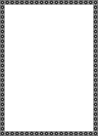Siergrens frame, in bewerkbare vector bestand, Zwart en Wit Stock Illustratie