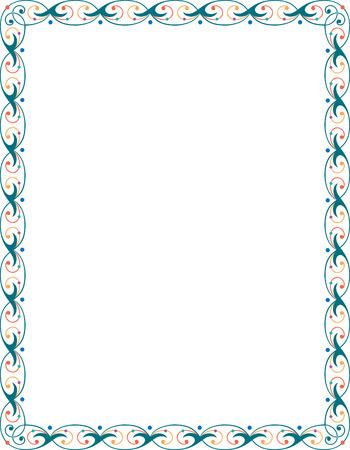 Beautiful ornate border frame  Vector