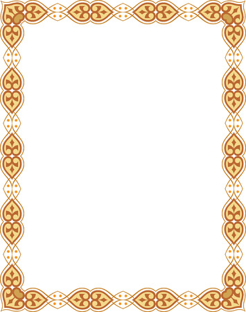 Beautiful ornate border frame  Vector