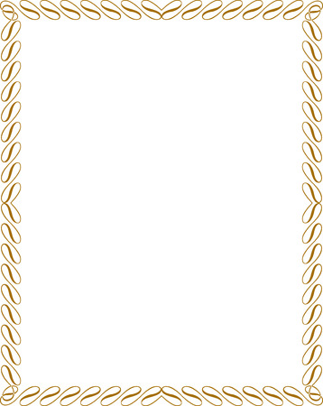 Calligraphic border frame Vector