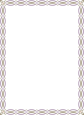 Ornamental border frame