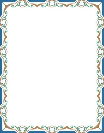 Ornamental border frame, in editable vector file, Color Vector
