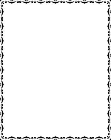 border frame: Ornamental border frame