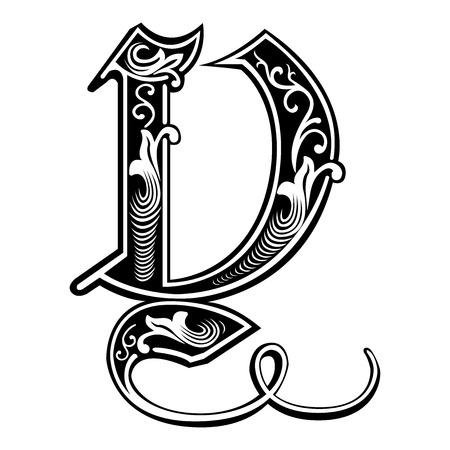 gothic style: Beautiful decoration English alphabets, Gothic style, letter Y