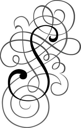martinet: Alphabets calligraphique anglais, lettre � la mode et �l�gant S