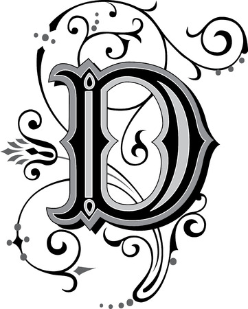 beautifully: Beautifully decorated English alphabets, letter D