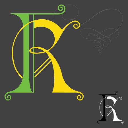 fonts music: Music style English alphabets - Letter K