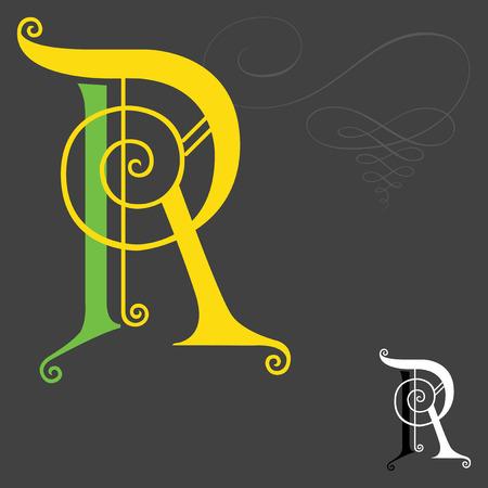 Style de musique alphabets anglais - Lettre R Banque d'images - 30642595