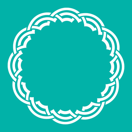 Arabesque geometric frame Vector