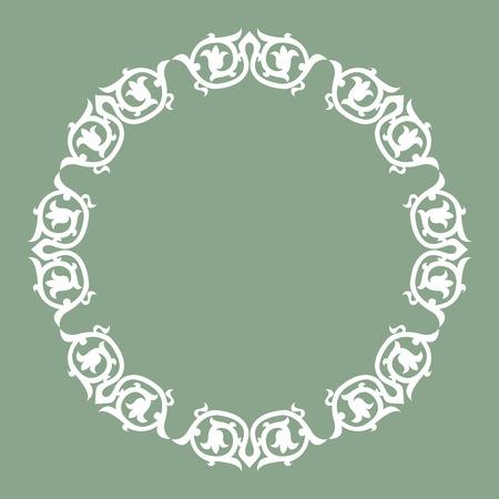 Ornamental circle design Vector