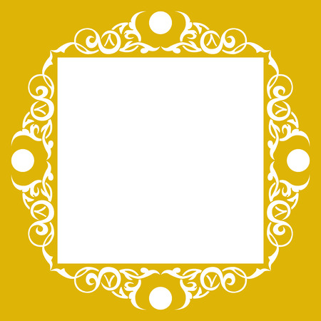 floral corner: Ornamental luxury frame, hand crafts